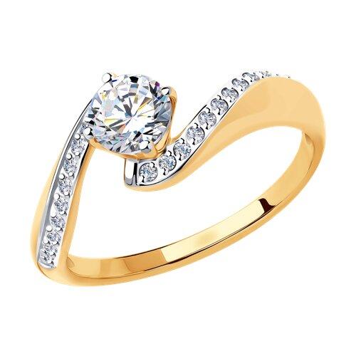 Кольцо из золота (018396) - фото