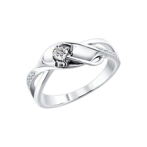 Кольцо-спираль SOKOLOV из белого золота c бриллиантами