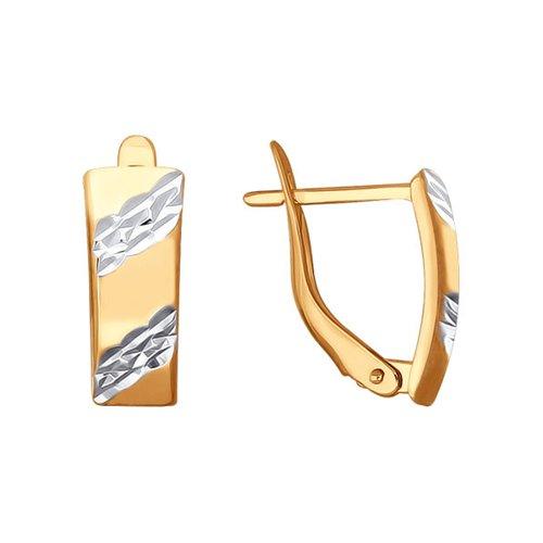 Серьги из золота с алмазной гранью (022188) - фото