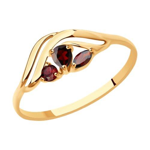 Кольцо из золота с гранатами (37714615) - фото