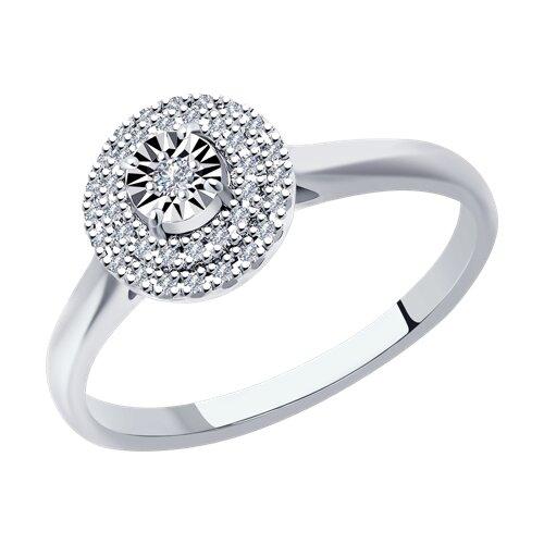 Кольцо из белого золота с бриллиантами (1011944) - фото