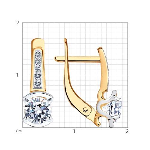 Серьги из золота с фианитами 027580 SOKOLOV фото 2