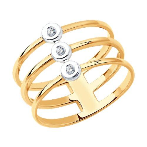 Кольцо из золота с бриллиантами 1012082 SOKOLOV фото