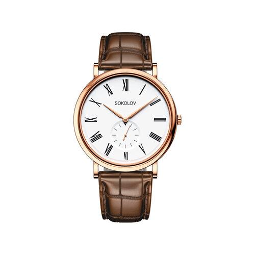 Мужские золотые часы (209.01.00.000.01.03.3) - фото №2
