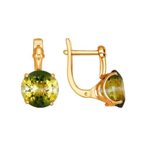 цена на Золотые серьги с кварцем SOKOLOV