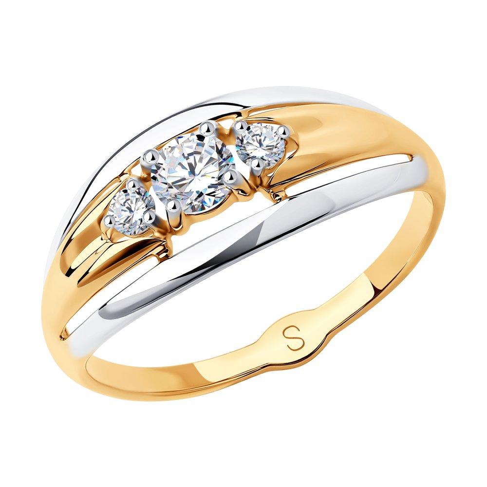 Кольцо SOKOLOV из золота с фианитами фото