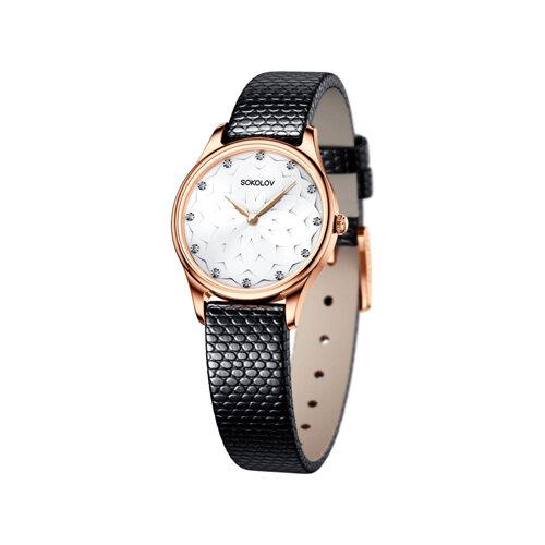 Женские золотые часы (238.01.00.000.08.01.2) - фото