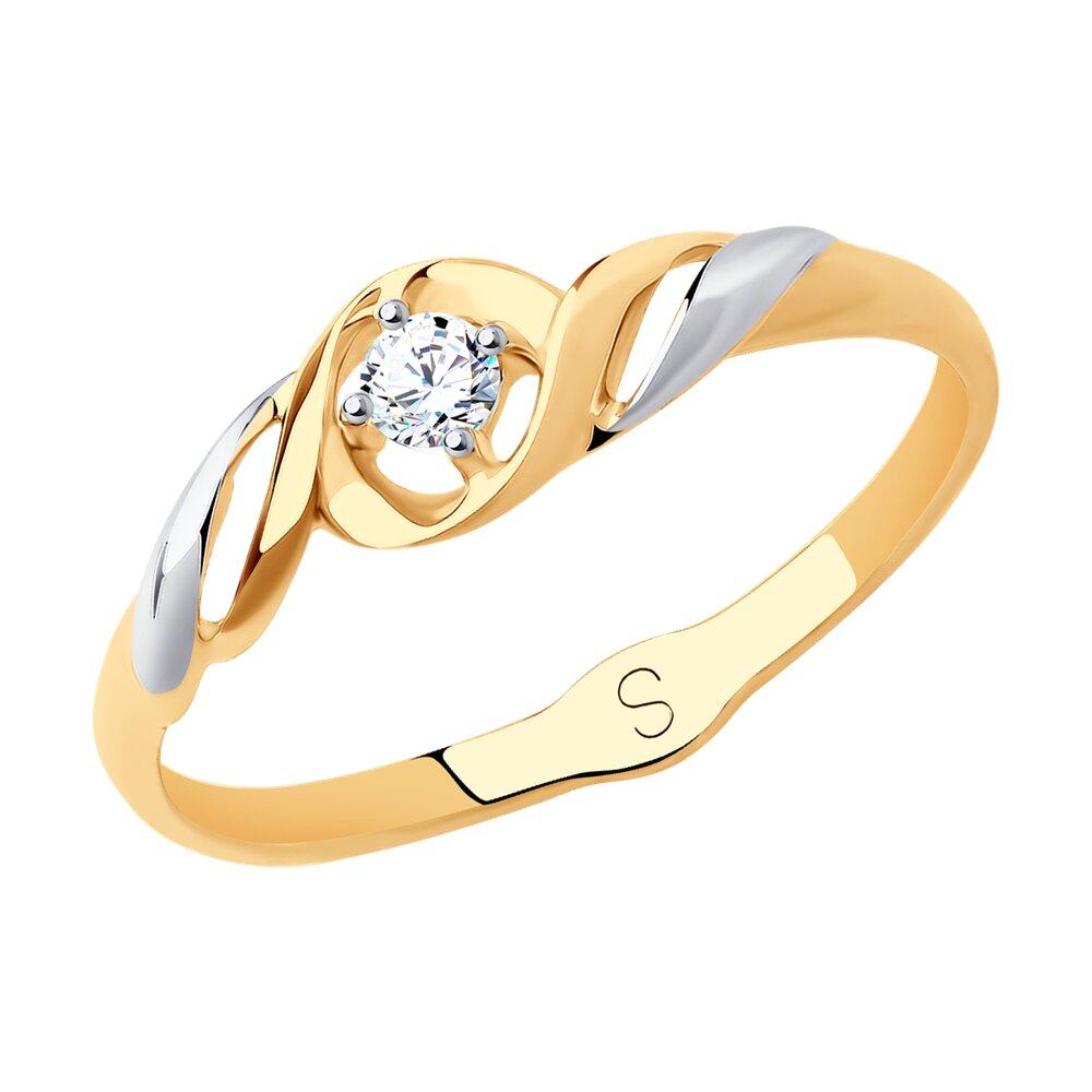 Кольцо SOKOLOV из золота 585 пробы с фианитом фото