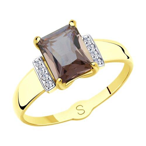 Кольцо из желтого золота (715416-2) - фото