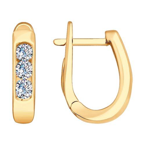 Серьги из золота с бриллиантами (1021290) - фото