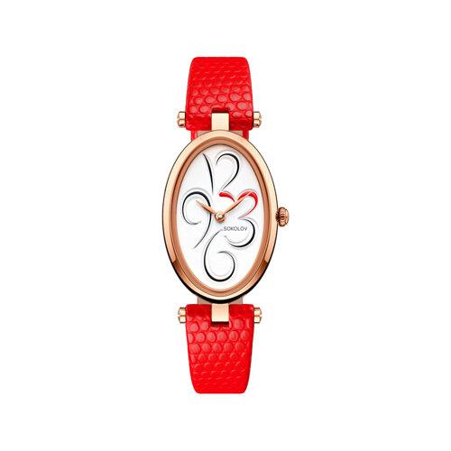 Женские золотые часы (235.01.00.000.03.03.2) - фото №2