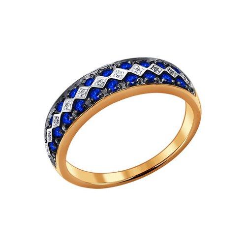 Фото - Кольцо SOKOLOV из золота с бриллиантами и сапфирами кольцо с сапфирами и бриллиантами из розового золота valtera 82404