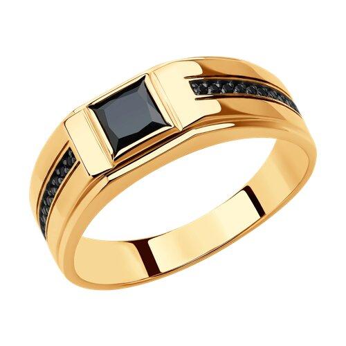 Кольцо из золота (018402) - фото