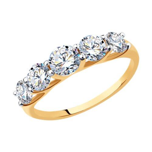 Кольцо из золота с фианитами 017146 sokolov фото