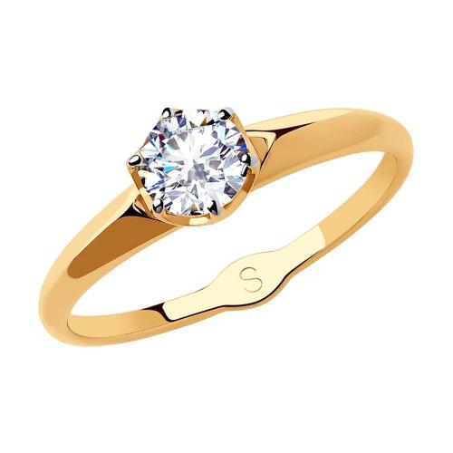 Кольцо из золота со Swarovski Zirconia (81010431) - фото