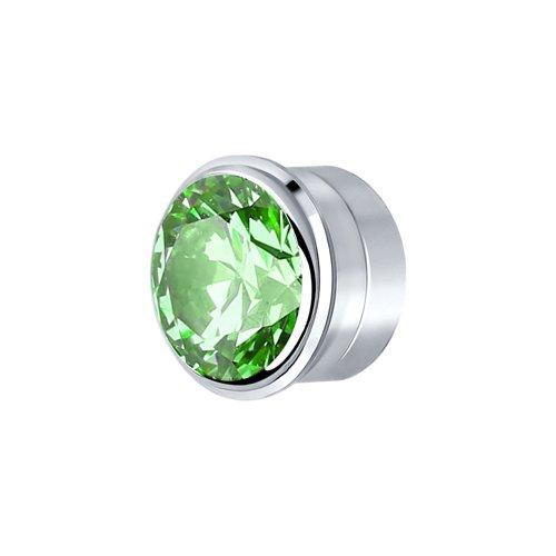 Вставка SOKOLOV из серебра с зелёным Swarovski Zirconia