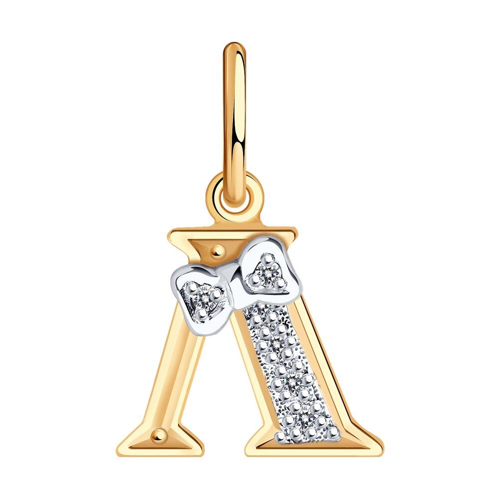 Фото - Золотая подвеска-буква «Л» SOKOLOV золотая подвеска буква и sokolov