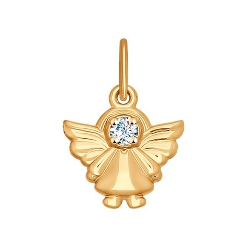 Подвеска «Ангел» SOKOLOV из золота с фианитом
