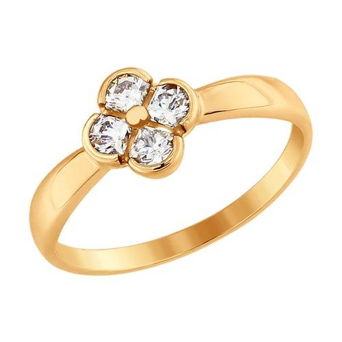 Кольцо из золота со Swarovski Zirconia (81010335) - фото