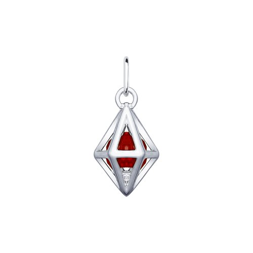 Подвеска SOKOLOV из серебра с красным кристаллом Swarovski подвеска из серебра с кристаллом swarovski