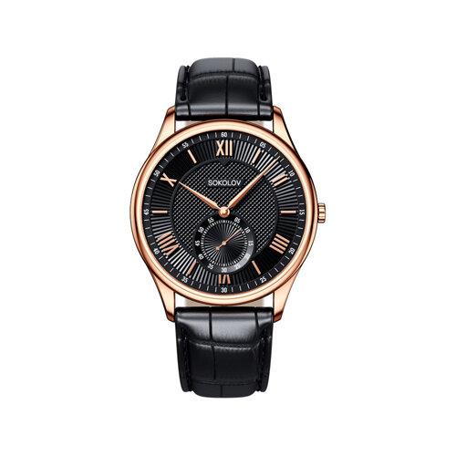 Мужские золотые часы (237.01.00.000.02.01.3) - фото №2