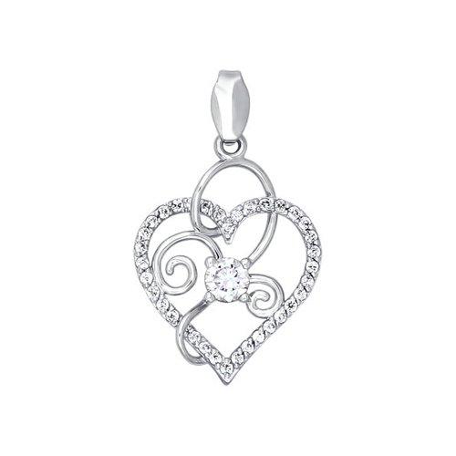 цена на Подвеска «Сердце» SOKOLOV из белого золота
