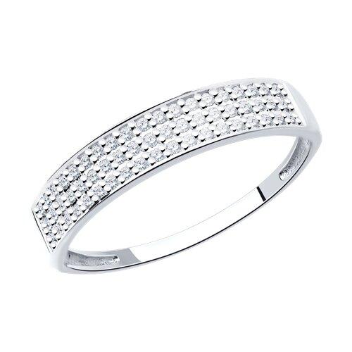 Кольцо из белого золота с бриллиантами (1011545-3) - фото