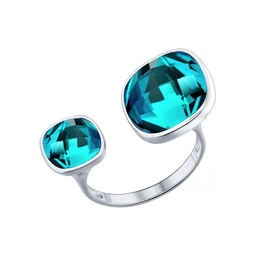 Разъёмное кольцо с кристаллами swarovski