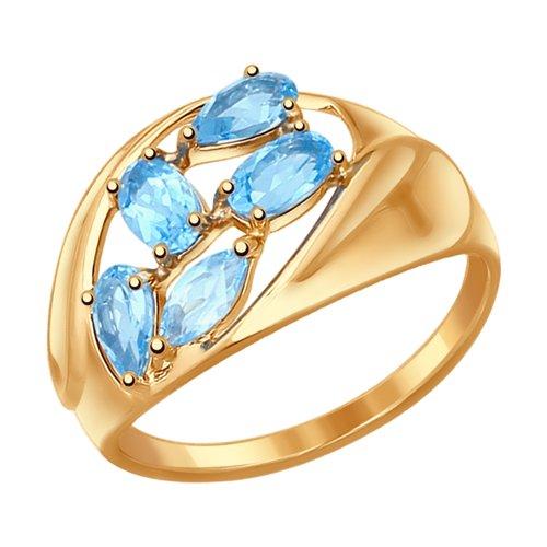 Кольцо из золота с топазами (37714469) - фото