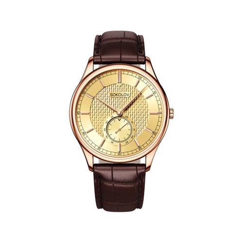 Мужские золотые часы (237.01.00.000.04.02.3) - фото №2