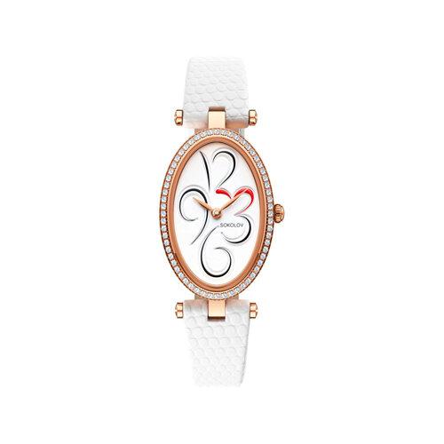 Женские золотые часы (236.01.00.100.03.02.2) - фото №2