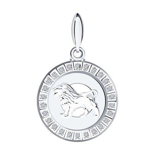 Серебряная подвеска «Знак зодиака Лев» SOKOLOV подвеска знак зодиака лев sokolov