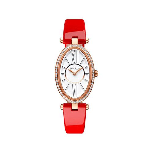 Женские золотые часы (236.01.00.001.01.06.2) - фото №2