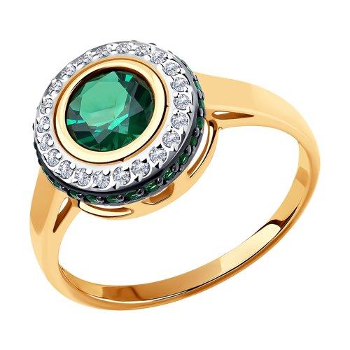Кольцо из золота с фианитами 018475 SOKOLOV фото