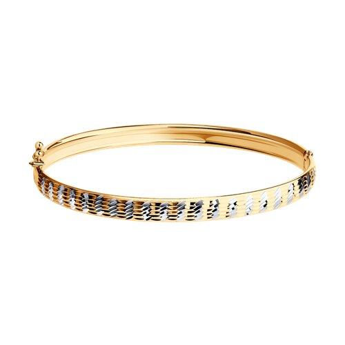 Браслет из золота с алмазной гранью (050369) - фото