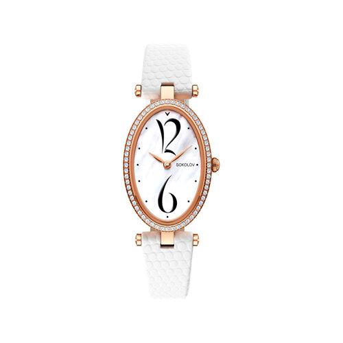 Женские золотые часы (236.01.00.100.05.02.2) - фото №2