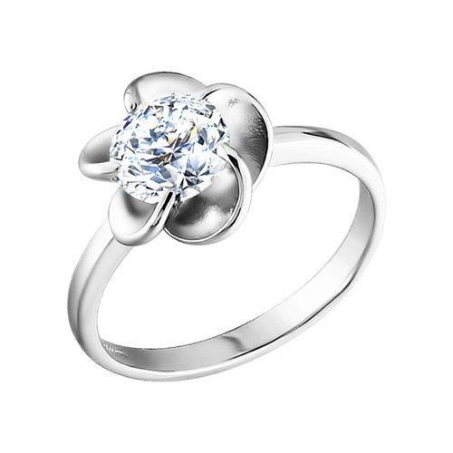 Серебряное кольцо в форме цветка SOKOLOV недорого