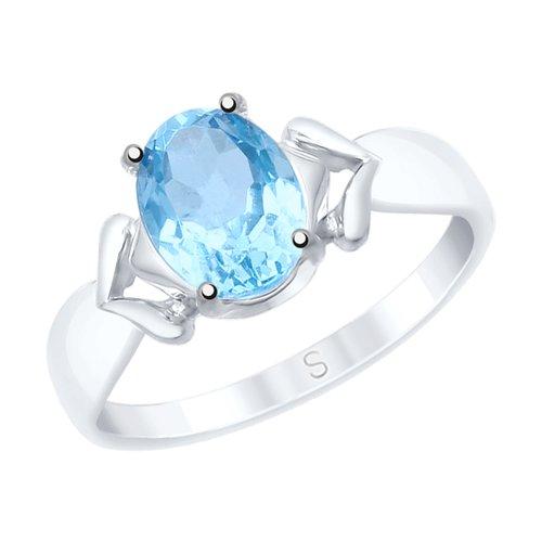 Кольцо из серебра с топазом (92011536) - фото