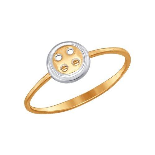 Кольцо SOKOLOV из золота «Пуговка» ювелирное кольцо sokolov