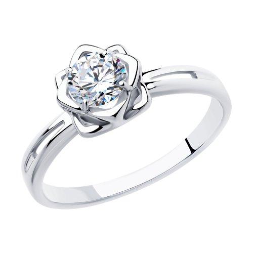 Кольцо из серебра со Swarovski Zirconia (89010121) - фото