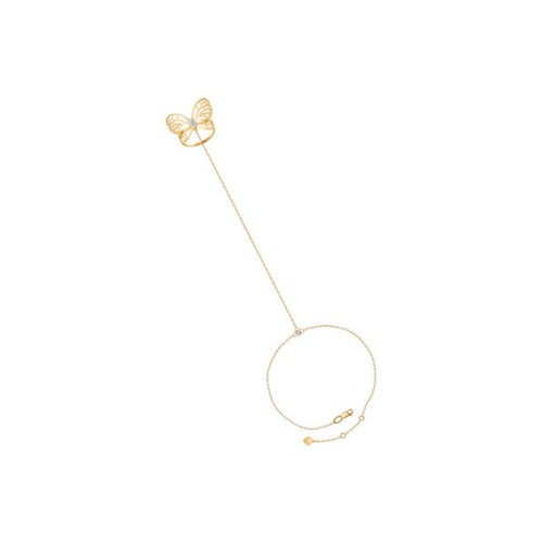 Браслет слейв-браслеты SOKOLOV из золота с фианитами браслеты sokolov 94050366 s