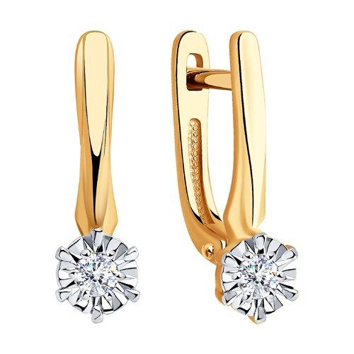 Серьги из золота с бриллиантами (1021332) - фото №2