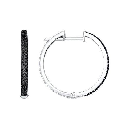 Фото - Круглые серьги с дорожкой SOKOLOV из чёрных бриллиантов кольцо с дорожкой sokolov из чёрных бриллиантов