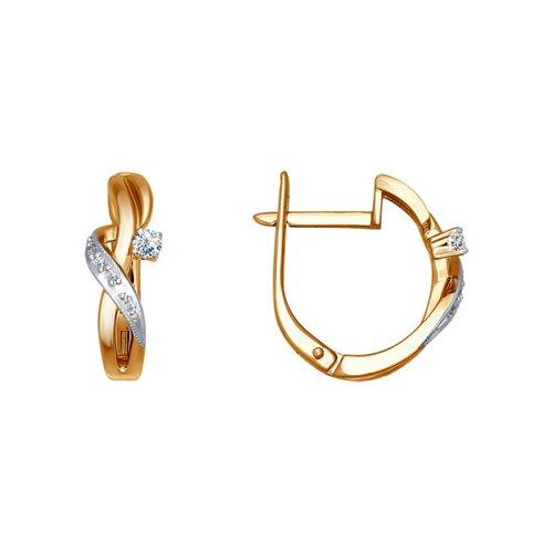 Серьги из золота с бриллиантами (1020438) - фото