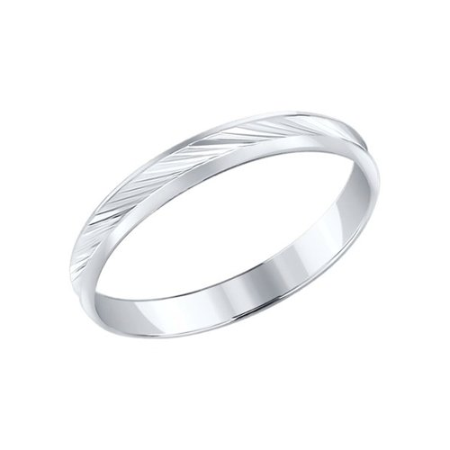 Обручальное кольцо SOKOLOV из серебра с алмазной гранью обручальное кольцо из серебра с позолотой