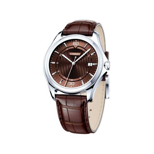 Мужские серебряные часы (135.30.00.000.08.03.3) - фото