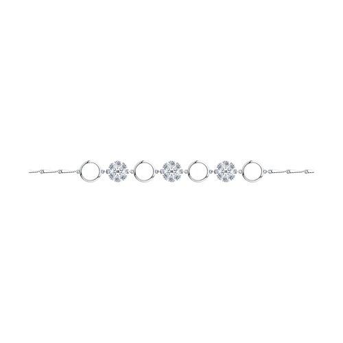 Браслет из серебра с фианитами (94050546) - фото