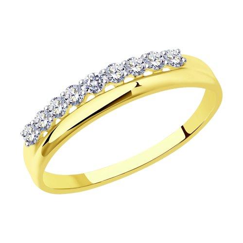 Кольцо из желтого золота (016670-2) - фото