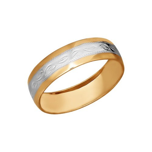 Обручальное кольцо из золота с гравировкой
