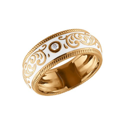 Золотое кольцо с эмалью SOKOLOV золотое кольцо ювелирное изделие 01k645533